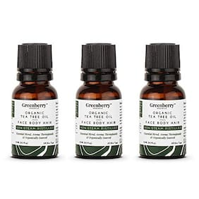 Greenberry Organics Organic Tea Tree Oil For Face Care 15ml (Pack of 3)