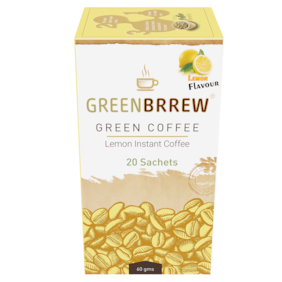 GreenBrrew Green Coffee (Lemon Flavour) for Weight LossInstant Coffee (60 g) Pack of 1