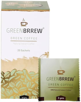Greenbrrew  Natural Green Coffee for Weight Loss - 20 Sachets, 60g (Easy to use)