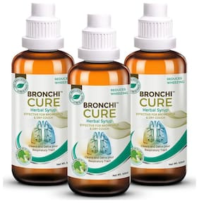 Greencure Bronchicure Premium Ayurvedic Herbal Syrup For Asthma,Bronchitis,Smoker'S Lung & Lung Infection 50 ml (Pack of 3)