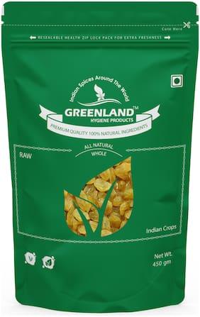 GREENLAND Golden Raisins (Dried Grapes) Kismis 900 gm (Pack of 2, Each 450gm) -Premium Grade