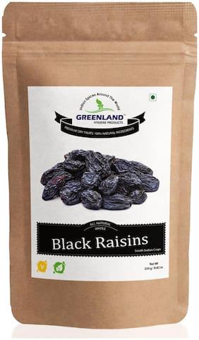 GREENLAND Black Raisins Afghan Seeded (Dried Grapes) 250 g -Premium Grade