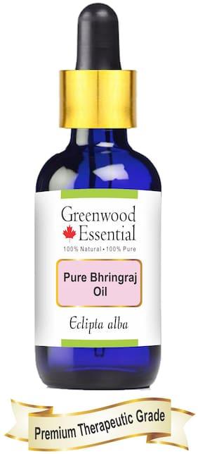 Greenwood Essential Pure Bhringraj Oil (Eclipta alba) with Glass Dropper 100% Natural Therapeutic Grade 100ml
