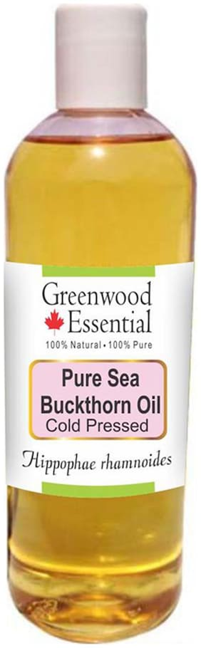 Greenwood Essential Pure Sea Buckthorn Oil (Hippophae rhamnoides) 100% Natural Therapeutic Grade Cold Pressed 200ml