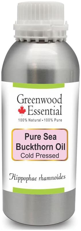 Greenwood Essential Pure Sea Buckthorn Oil (Hippophae rhamnoides) 100% Natural Therapeutic Grade Cold Pressed 300ml