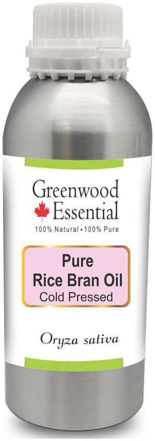 Greenwood Essential Pure Rice Bran Oil (Oryza sativa) 100% Natural Therapeutic Grade Cold Pressed 1250ml