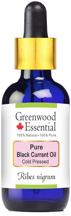 Greenwood Essential Pure Black Currant Oil (Ribes nigrum) with Glass Dropper 100% Natural Therapeutic Grade Cold Pressed 50ml