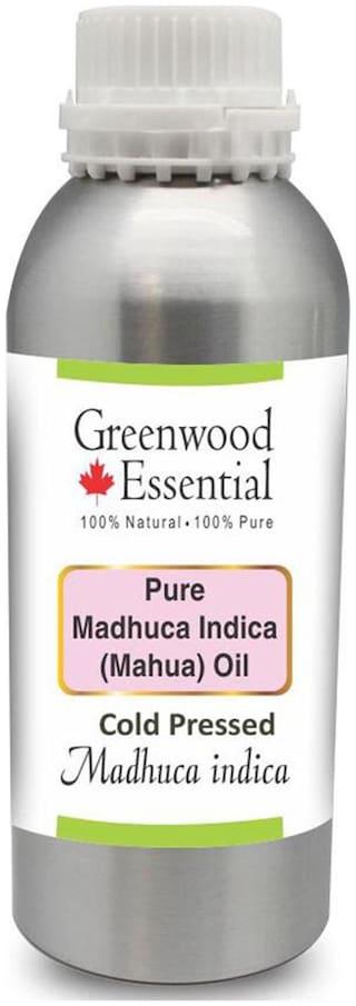 Greenwood Essential Pure Madhuca Indica Oil (Madhuca indica) 100% Natural Therapeutic Grade Cold Pressed 1250ml