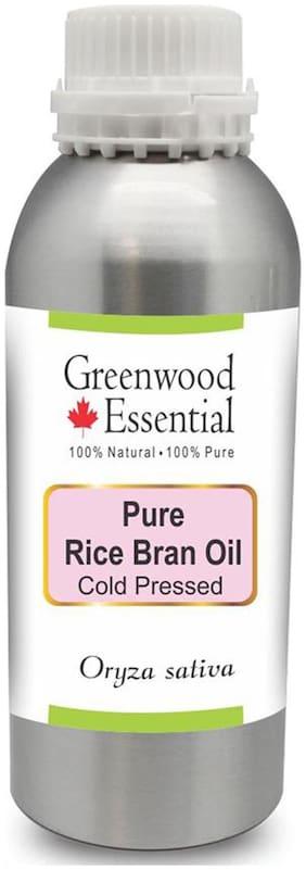 Greenwood Essential Pure Rice Bran Oil (Oryza sativa) 100% Natural Therapeutic Grade Cold Pressed 300ml