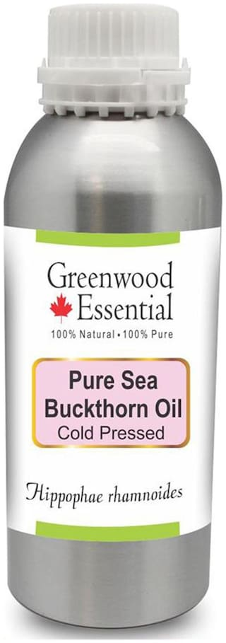 Greenwood Essential Pure Sea Buckthorn Oil (Hippophae rhamnoides) 100% Natural Therapeutic Grade Cold Pressed 630ml