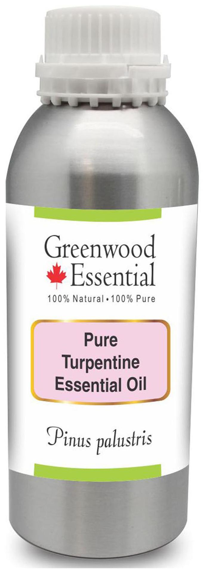 Greenwood Essential Pure Turpentine Essential Oil (Pinus palustris) 100%  Natural Therapeutic Grade Steam Distilled 300ml