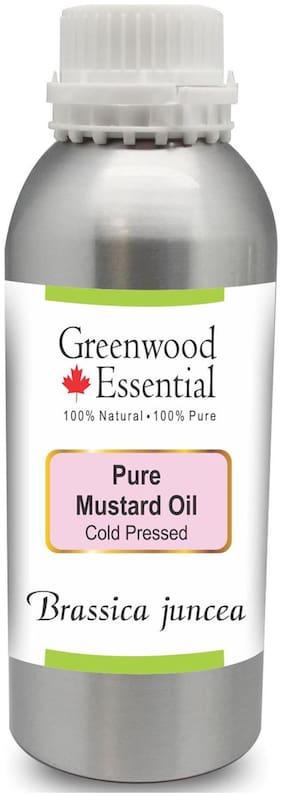 Greenwood Essential Pure Mustard Oil (Brassica juncea) 100% Natural Therapeutic Grade Cold Pressed 1250ml
