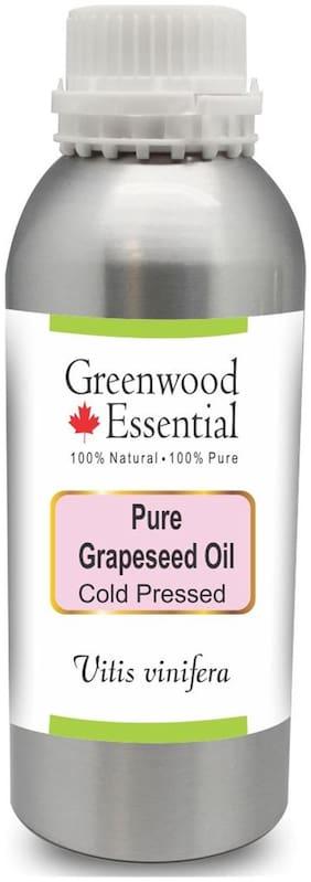 Greenwood Essential Pure Grapeseed Oil (Vitis vinifera) 100% Natural Therapeutic Grade Cold Pressed 1250ml