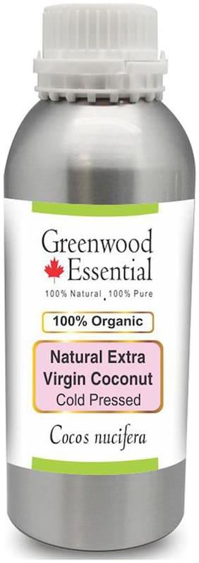 Greenwood Essential Natural Extra Virgin Coconut Oil (Cocos nucifera) 100% Pure Natural Therapeutic Grade Cold Pressed 1250ml