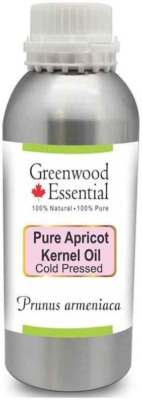 Greenwood Essential Pure Apricot Kernel Oil (Prunus armeniaca) 100% Natural Therapeutic Grade Cold Pressed 630ml
