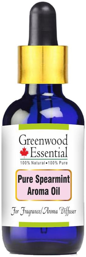Greenwood Essential Pure Spearmint Aroma Oil (Suitable for Aroma Diffuser) 100% Natural Therapeutic Grade 30ml