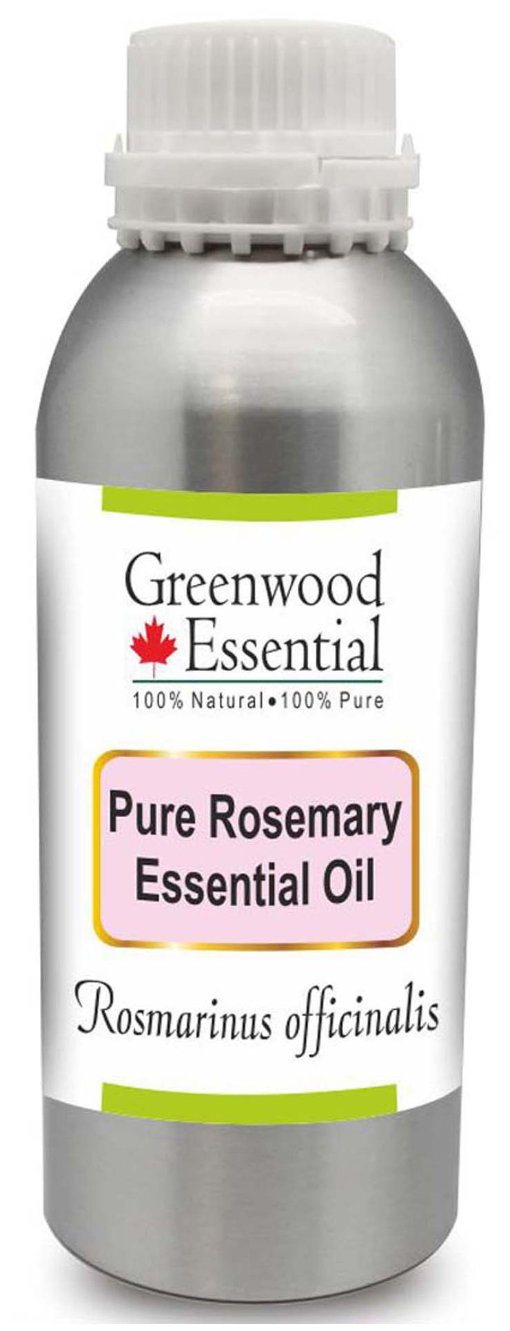 Greenwood Essential Pure Rosemary Essential Oil (Rosmarinus officinalis)  100% Natural Therapeutic Grade Steam Distilled 630ml