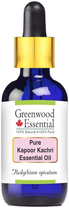 Greenwood Essential Pure Kapoor Kachari Essential Oil (Hedychium spicatum) with Glass Dropper 100% Natural Therapeutic Grade Steam Distilled 30ml