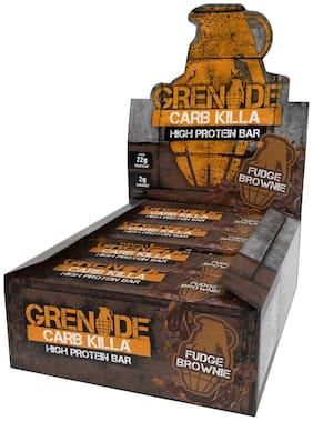 Grenade Carb Killa Protein Bar,Fudge Brownie,60g,(Pack of 12)