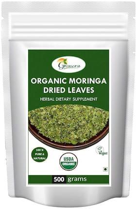 Grenera Organic Moringa Dried Leaves - 500 g (Whole)