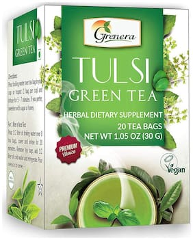 Grenera Tulsi Green Tea - 20 Tea Bags / Box