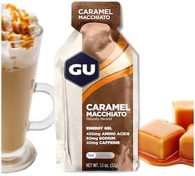 GU Energy Original Sports Nutrition Energy Gel, Caramel Macchiato 32g (Pack of 24)