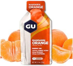 GU Energy Original Sports Nutrition Energy Gel, Mandarin Orange 32g (Pack of 24)