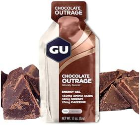 GU Energy Original Sports Nutrition Energy Gel, Chocolate Outrage 32g (Pack of 24)