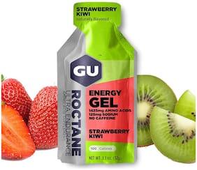 GU Energy Roctane Ultra Endurance Energy Gel, Strawberry Kiwi 32g (Pack of 24)