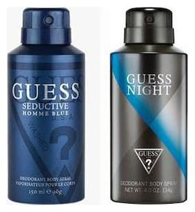Guess Seductive Home Night Access Deodorant Spray - For Men (300 ml Pack of 2)