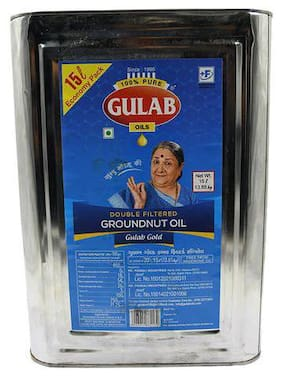 Gulab Double Filtered Groundnut Oil 15 L