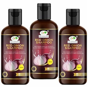 GULBADAN Onion Hair Fall Shampoo for Hair Growth & Hair Fall Control,with Red Onion & Black Seed for Men & Women - 100ml  ( Pack of 3 )