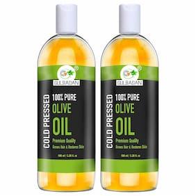GULBADAN Organics 100% Pure Extra Light Olive Oil Hair Oil (100 ml) (Pack of 2)