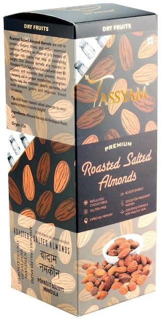 Tassyam Premium Roasted Salted Almonds 250g Namkeen Badaam Giri