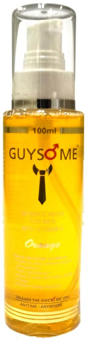 Guysome Orange Flavor Intimate Wash For Men With Vitamin- E And Sea Buckthorn 100 ml