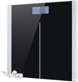 GVC Digital Body Weight Bathroom Scale with Step-On Technology Weighing Scale - Black