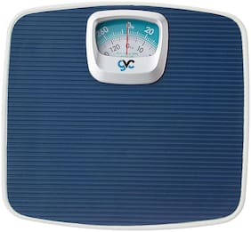 GVC Full Metal Mechanical Weight Machine - 130 kg Capacity Weighing Scale (Blue)