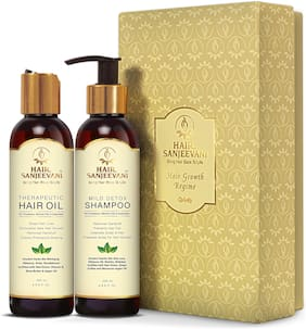 Hair Sanjeevani- Hair Growth Regime (Hair Oil 200 ml;Shampoo 200 ml)(Pack of 2)