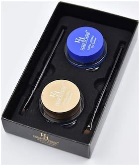 Half N Half Long Lasting Gel Eyeliner;(Black &Blue) Water & Smudge Proof;24 Hours, set of 2 pcs , 4 gm each (Pack of 1 )