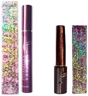 Half N Half Waterproof Mascara 10ml And Waterproof Eyeliner 6ml (Pack of 2)
