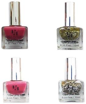Half N Half Nail Pro Hd Nail Polish (Shade No 40,61,48 And 68)Multi 10ml (Pack of 4)