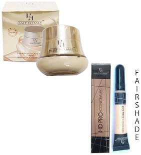 Half N Half Illuminating Foundation With Skin Highlighter & Toner 65ml (Rose Shade No 2)And Pro Concealer 8g  (Fair Shade)(Pack of 2)