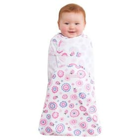 HALO Swaddle Sure Pink Floral Adjustable Swaddling Pouch Baby Girl Size Small