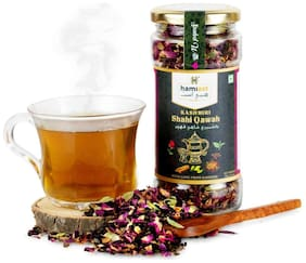Hamiast Kashmiri Shahi Qawah (Kahwa) Green Tea with Saffron, Authentic and Traditional Blend,Without Sugar, 85g Serves 50 Cups