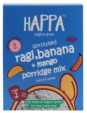 Happa Baby Food - Organic sprouted Ragi, Mango & Banana Porridge Mix, 6 Months+ 200 g