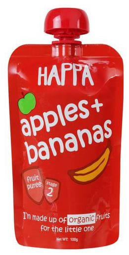 Happa Fruit Puree - Apple & Banana 100 g