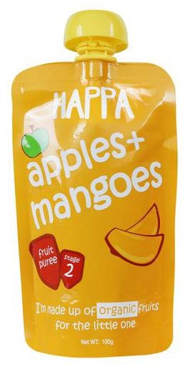 Happa Fruit Puree - Apple & Mango 100 g