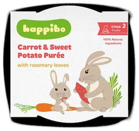 Happibo Carrot & Sweet Potato Puree 125 gm