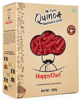 Happy Chef Healthy Pasta - Quinoa  Beetroot & Lentil 500 gm