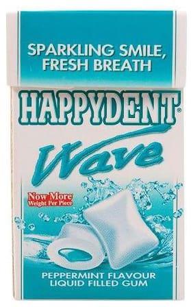 Happydent  Wave - Peppermint Flavour  Liquid Filled Gum 18.4 g